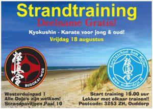 Voor in je agenda : 18 augustus geven we een strandtraining!